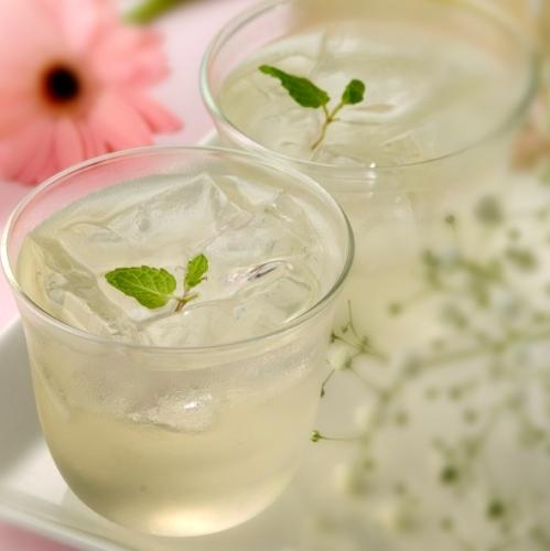 【朝食】朝からすっきり!自社産レモン水
