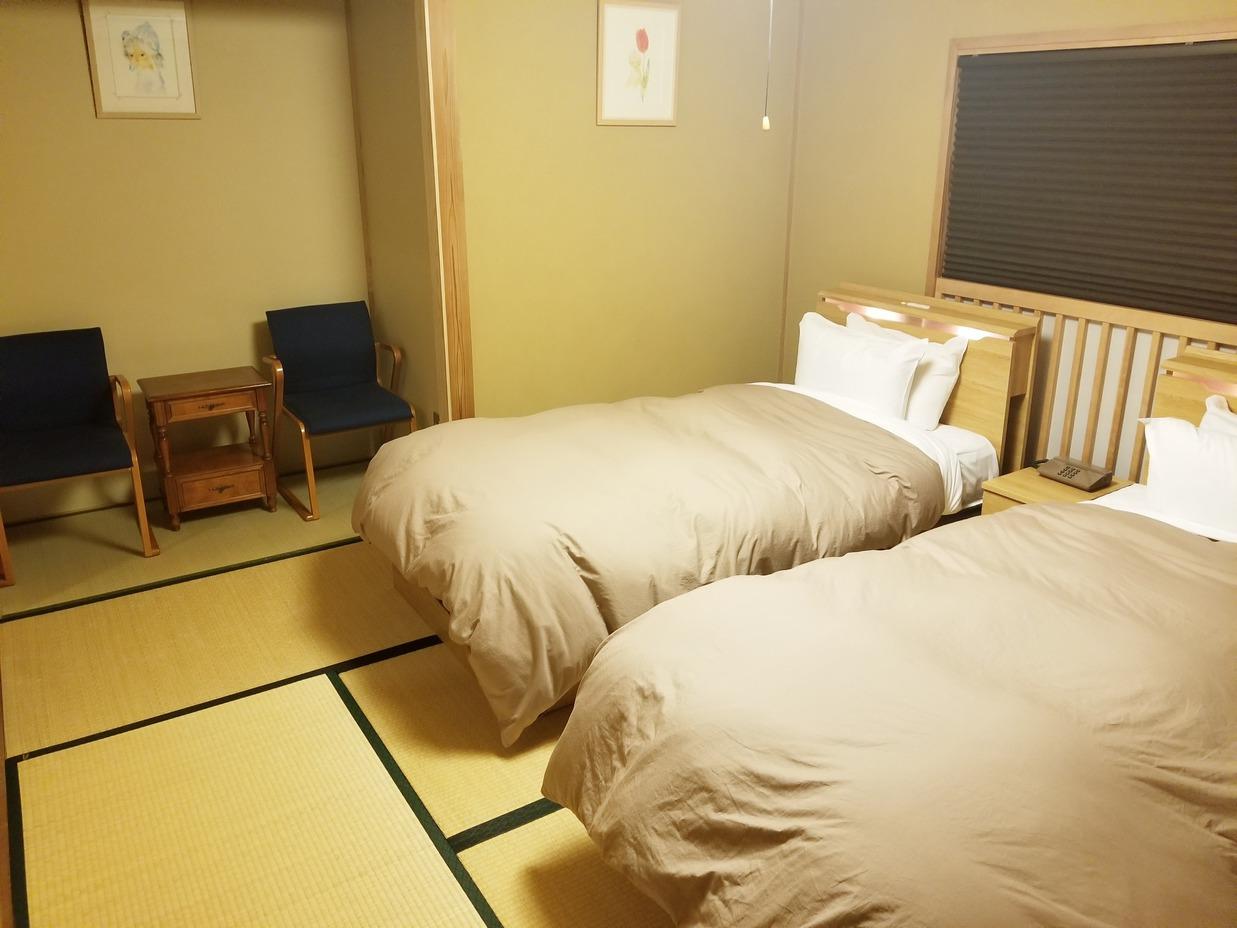 新館特別室のベットルーム