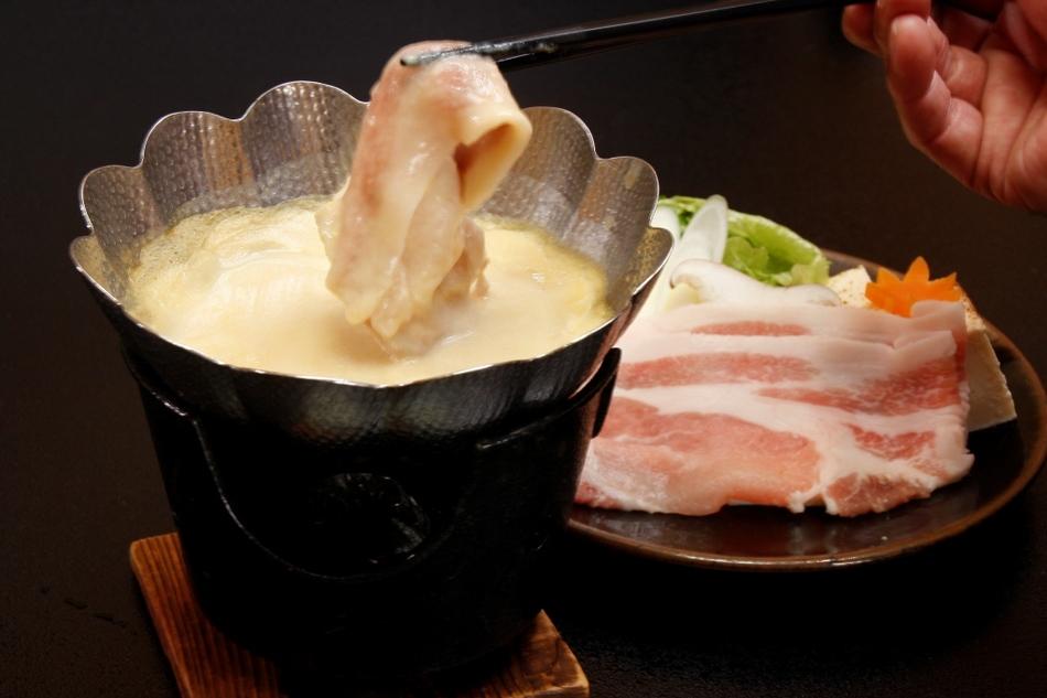 安曇豚の豆乳鍋