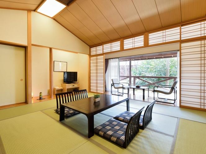 【はなれ】和室12.5畳+縁側+踏込み  ゆったりくつろげる ゆとりのお部屋。