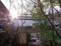 ●朝陽の差し込む玄関(冬)