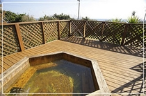 『貸切露天風呂』から太平洋の絶景が一望できます。