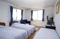 こちらの客室は、トリプル用です。