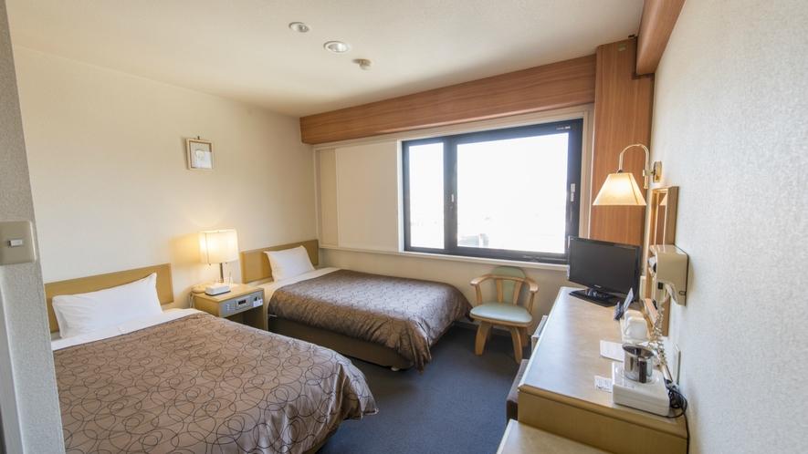 【お部屋】ツインルームもございます☆ご友人・ご家族と広いお部屋でごゆっくりお過ごしください。