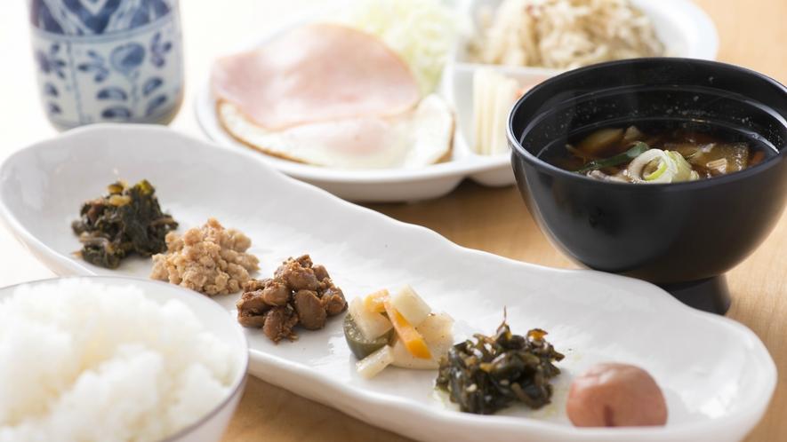 【朝食】福井県産のコシヒカリが自慢!自社菜園で作る手づくりのごはんのお供は優しいお味♪