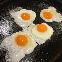 【朝食】こんな感じで目の前でお作りします!