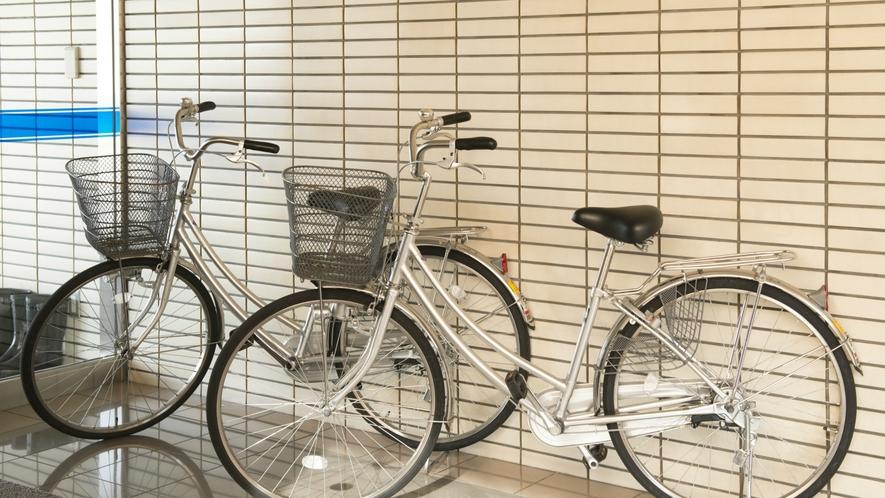【館内】大型車のお客様にも嬉しいレンタル自転車もあります!近隣の飲食店への移動手段にぜひご活用を。