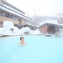 ■冬の混浴露天と女性