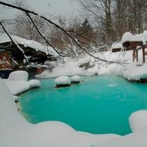 ◇新雪がたっぷり混浴露天風呂