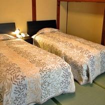 ■本館6+6畳和室【小梨】ベッドルーム