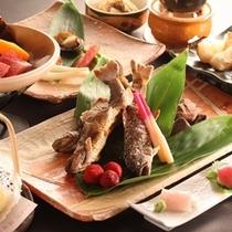 ◇【泡の湯会席】強肴:岩魚塩焼き
