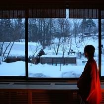 ■冬景色を眺める