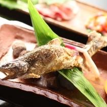 ◇【田舎会席】強肴:岩魚塩焼き