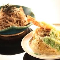 ◇【田舎会席】食事 天ぷらと信州そば