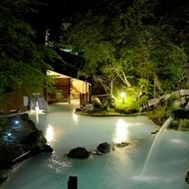 ◇夏の夜、大野天風呂