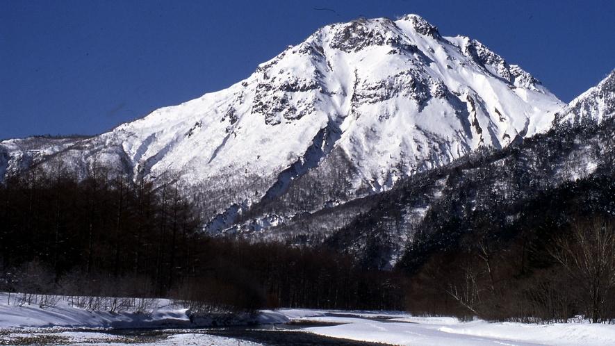 ・梓川と焼岳