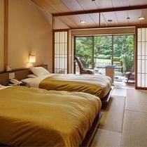 【西館】庭園露天風呂付ベッドタイプ