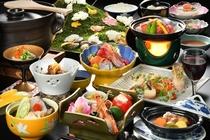 山形の雪景色をイメージした冬の膳です。温もりあふれる冬の味わいで団らんのひとときをお過ごしください。