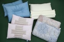 珍しいさくらんぼの種を使った枕など、バラエティ豊かな枕をご用意しております。お気軽にお試しください。