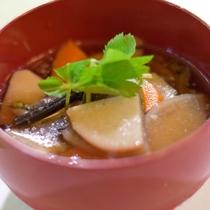 けんちん汁。これぞ地元料理!会津の素材をふんだんに使うボリュームたっぷりの素朴な味!