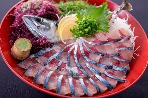 【春会席】変更メニュー「鯖のお造り」