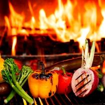 「GRILL DINING 薪火」薪窯焼き野菜