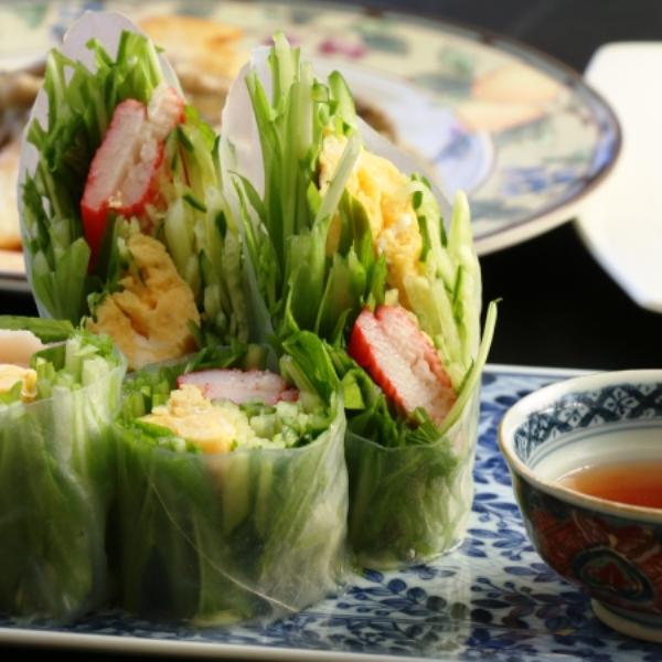 ☆料理_夕食_生春巻き