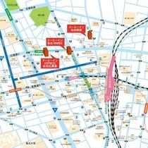 ■ホテル周辺マップ