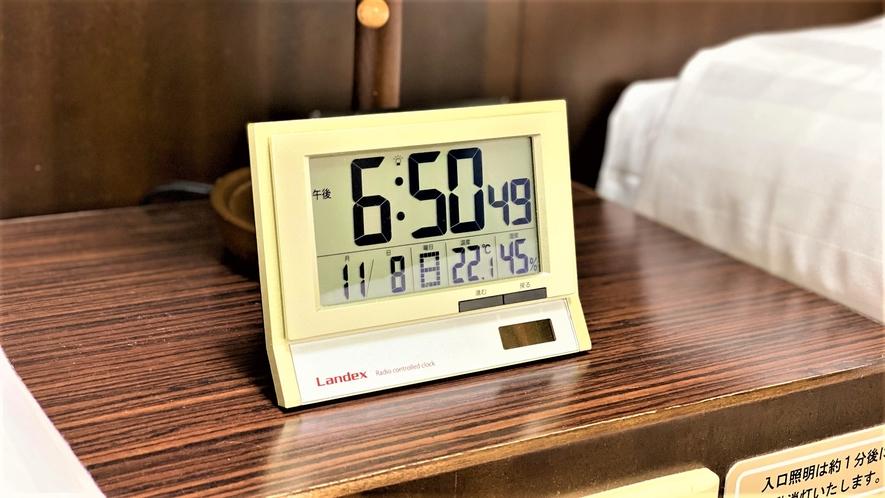 ◆客室備品 電波時計