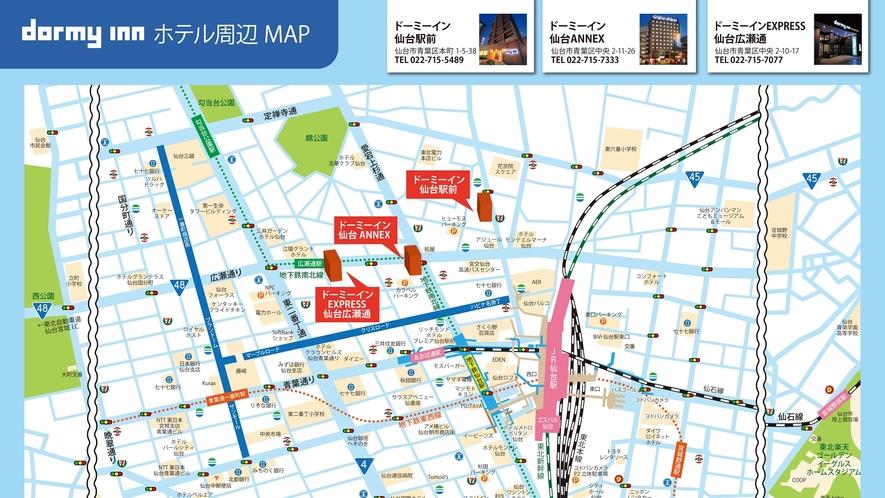 ◆ホテル周辺マップ