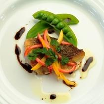 【夕食】魚料理一例