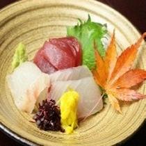 ホテル内【地下のしまだ】 旬のお刺身3点盛り 旬のお刺身をお楽しみください!!