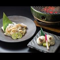 焼白子、ふぐ魚醤焼 *美味島食*