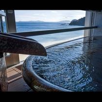 ゆすらうめ*半露天風呂からの海彡 山桜桃64平米・半露天付*特別室