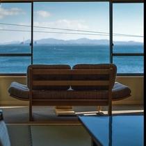 ゆすらうめ*海の眺め /山桜桃64平米・半露天付*特別室