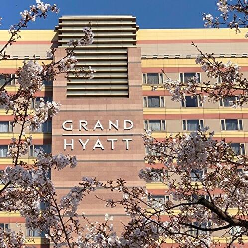 ホテル外観 桜のシーズン