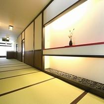 ■【廊下】館内廊下は全て畳敷きです!素足で歩く心地よさ、開放感をお楽しみください。