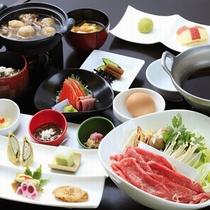 ■【ご夕食】山形牛すき焼き膳 ※イメージ