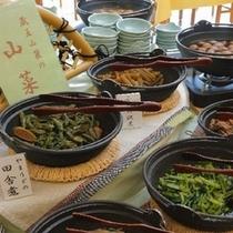 ■朝食バイキング/蔵王の山菜をご用意しております