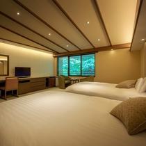 【客室一例】「デラックスツインルーム」上質な空間でゆったりとお寛ぎください