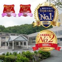 【外観】ようこそ、蔵王国際ホテルへ!