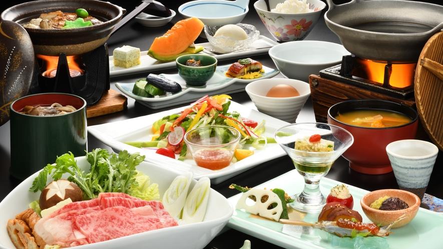 【ご夕食一例】山形牛すき焼き膳 ※イメージ