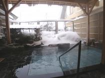 庭園露天風呂『四季彩の湯』(冬)