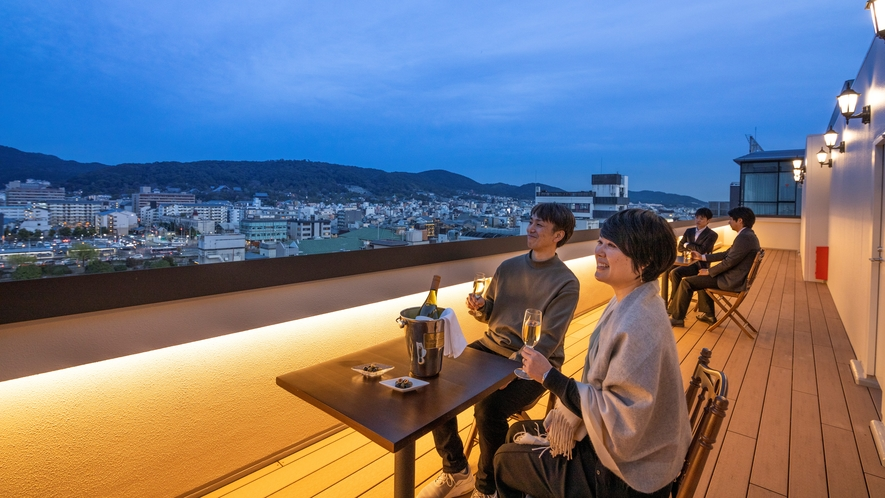 ◆京都系列ホテル【屋上テラス】