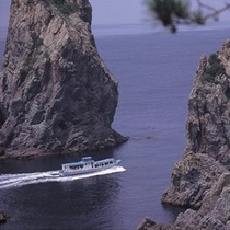 海上アルプス青海島までお車で約40分♪