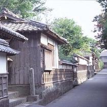 萩城下町の風景
