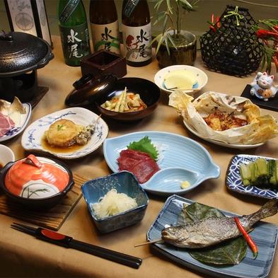 【田舎料理をたっぷりと】 みゆきポークや馬刺し、山菜等地場の食材いっぱいプラン -- 外湯巡りも便利