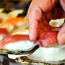 【夕食バイキング】目の前で握るお寿司