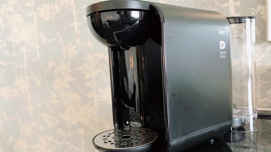【コーヒーメーカー】 エグゼクティブツイン・プレミアツイン・プレミアダブルのお部屋に完備。