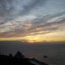 *展望台からの朝日
